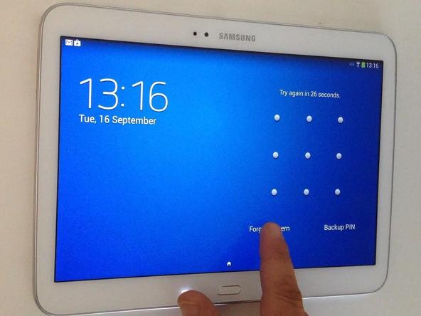 Tablet açılış şifresini sıfırlama