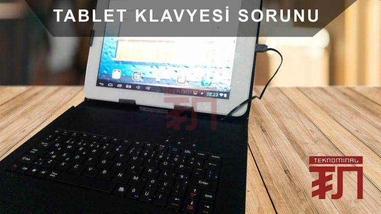 Tablet klavyesi Türkçe karakter ve @ işareti sorunu