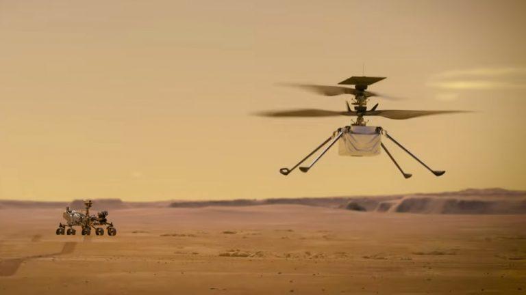 Mars'a Mini Helikopter indirildi